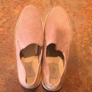 UGG Shoes - Blush suede UGG sneakers